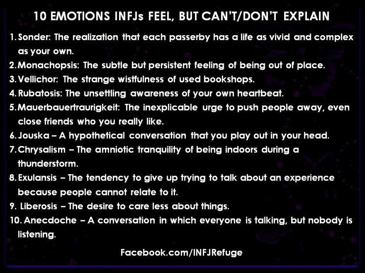All of these are so true!! Now there are words for them!! #INFJ
