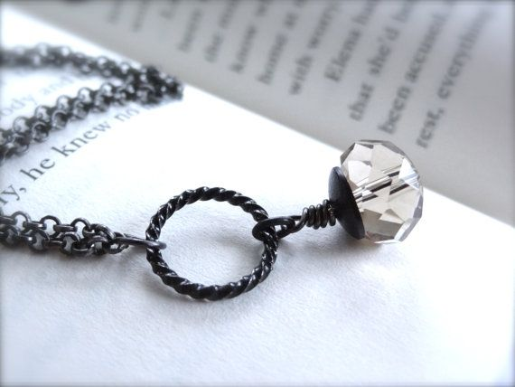 A Drop of Sparkle  Dainty Black Antique Rolo Chain by Kitschish, $23.00