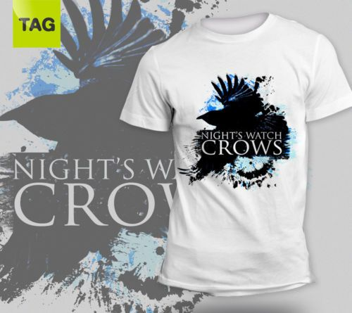 T-SHIRT-Game-of-Thrones-Nights-Watch-Crows-Guardiani-della-notte-Trono-di-spade