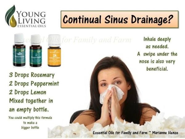 Sinus Drainage remedy from Essential Oils for Family and Farm (Marianne Henze) by tiggyrn