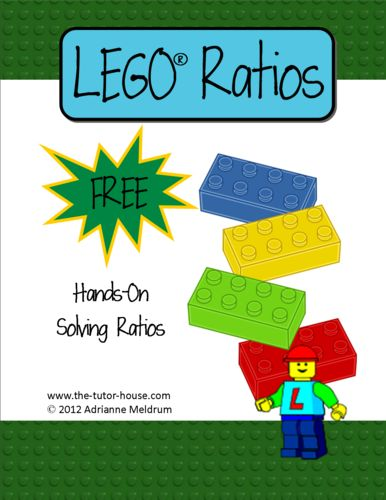 Teach ratios in a hands-on way with LEGO Ratios.  Free Comes with directions and a worksheet.  www.the-tutor-house.com