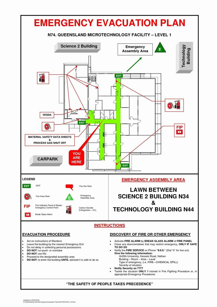 40 Emergency Evacuation Plan Template in 2020 Evacuation