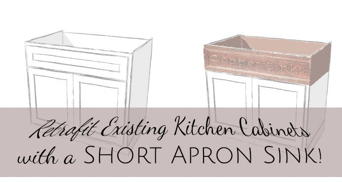 Short Apron Front Sink : ... Sinks on Pinterest Farmhouse Kitchen Sinks, Copper Farmhouse Sinks