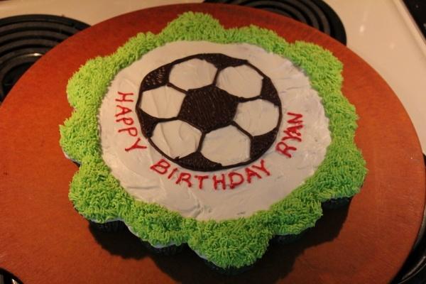 Soccer Cupcake Cake