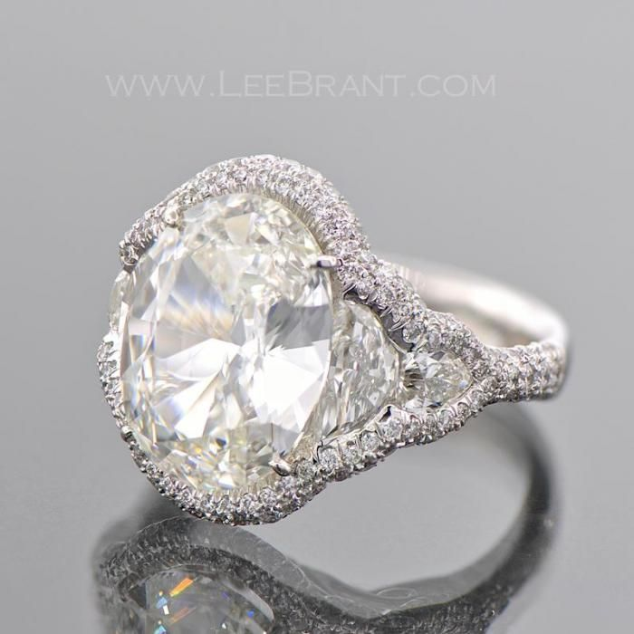 Oval Engagement Ring Double Halo