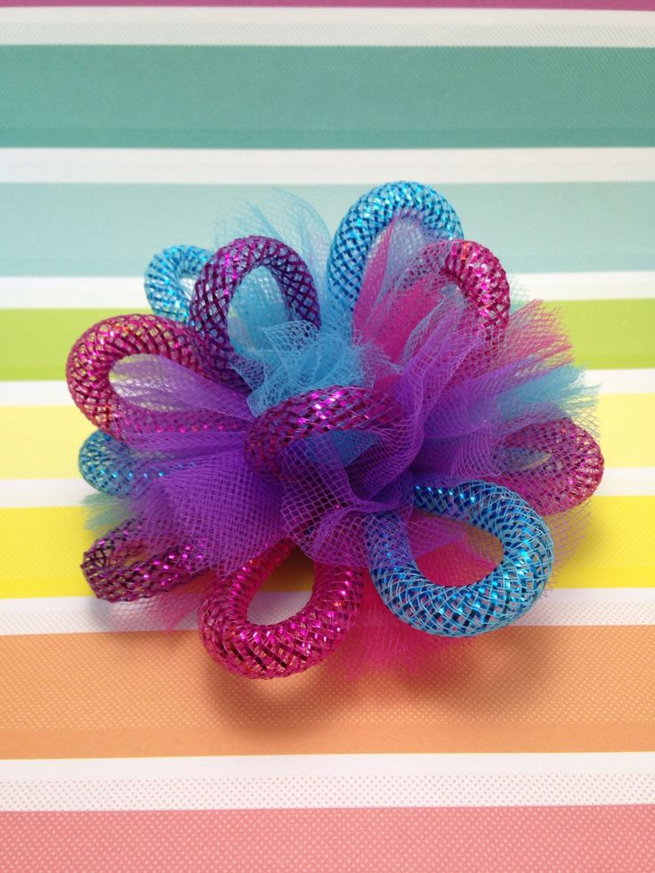 A personal favorite from my Etsy shop https://www.etsy.com/ca/listing/266955775/sweet-shoppe-candy-tulle-loopy-poof-4