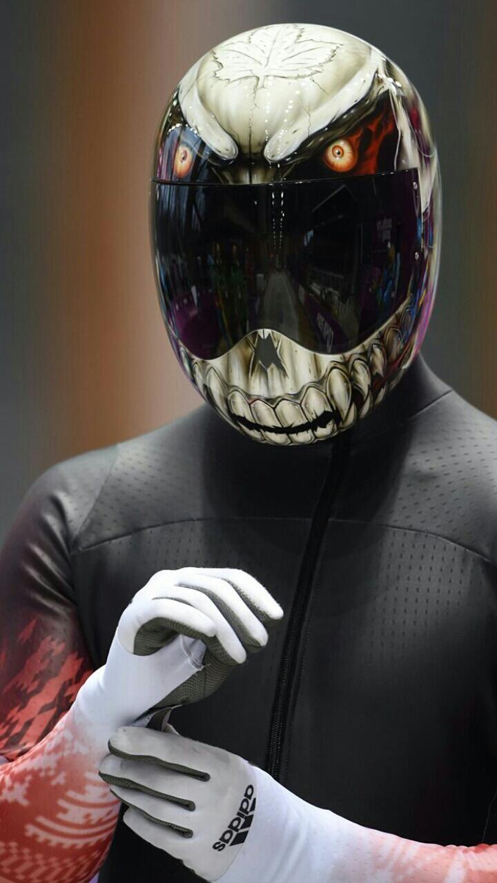 Canadian Olympic skeleton team member's helmet
