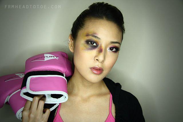 halloween makeup boxer black eye