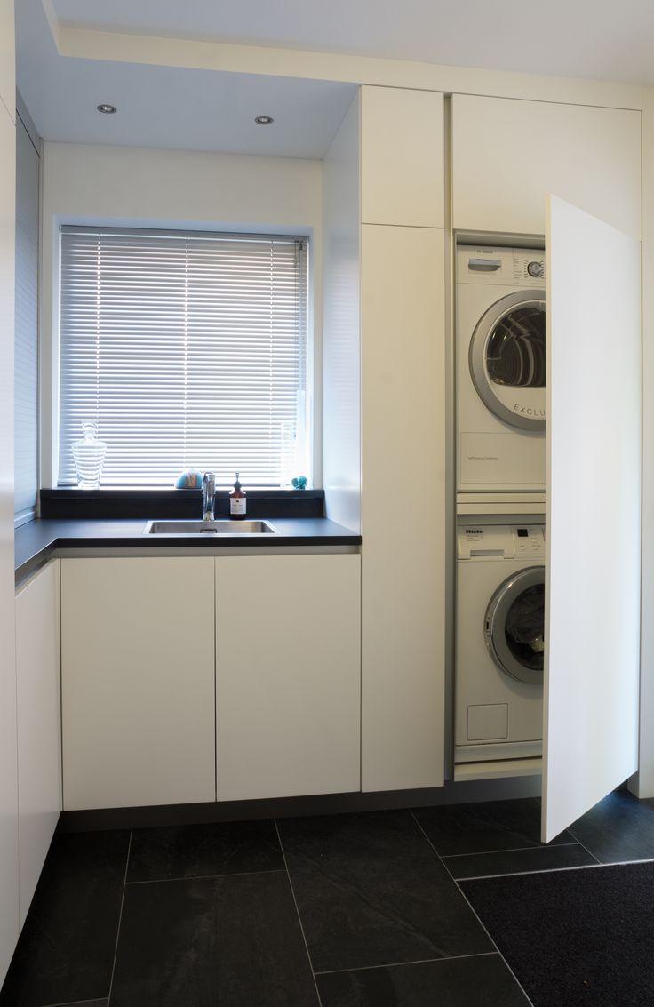 17 beste afbeeldingen over maatwerk kasten en meubels door fijri interieurbouw op pinterest - Moderne wasruimte ...