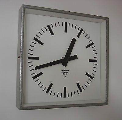 PRAGOTRON Vintage Metal Industrial Clock Factory 34x34cm