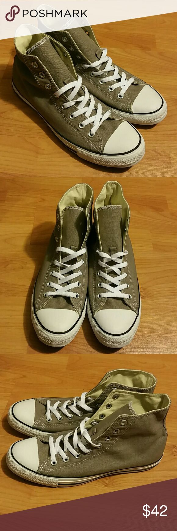 Mens converse all star New. Size 9.5. Never worn. Color gray. Converse Shoes Sneakers