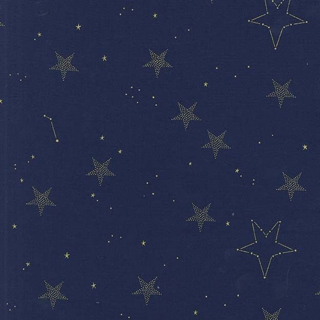 Sarah Jane, Magic, Lucky Stars in Navy Metallic