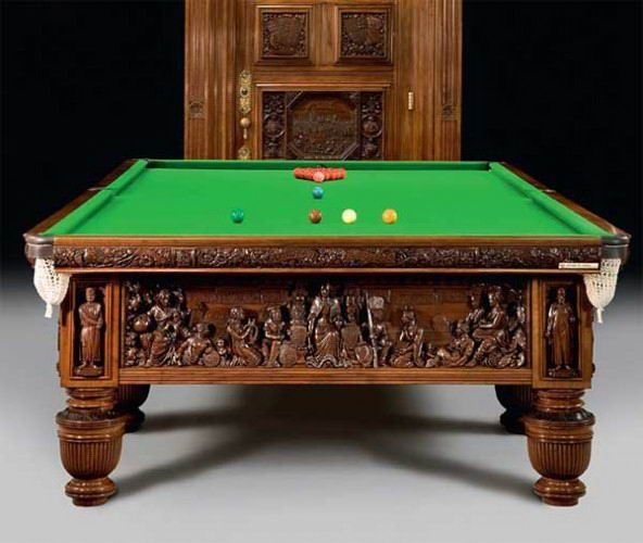 Game Room Furniture Antique Pool Table - Who doesn't love to play pool. Featured here are some of the best designer pool tables.