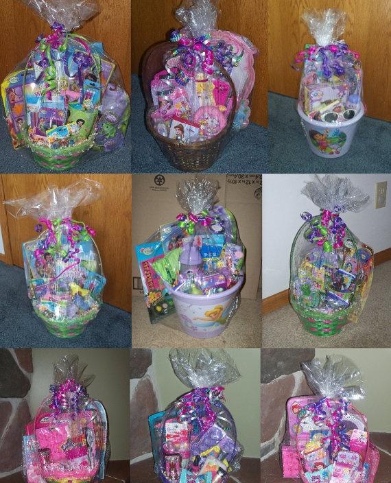 Girls Themed Easter Basket, $50.00 -- Tinkerbell, Barbie, Princesses, etc