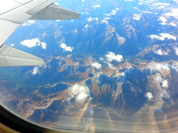 Aerial view of the Rocky Mountains (Family Fun Canada)