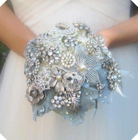 brooch bouquet - very cool