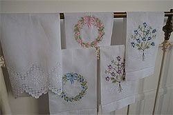Embroidered Guest Towels - click to enlarge
