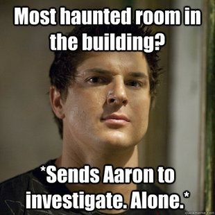 Ghost Adventures. He is such a poser...I love ghost hunting, but I had to stop watching this show cuz I couldn't handle his ridiculousness & wanna be machizmo.