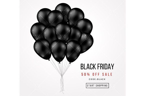 Black friday balloons by kotoffei on @creativemarket