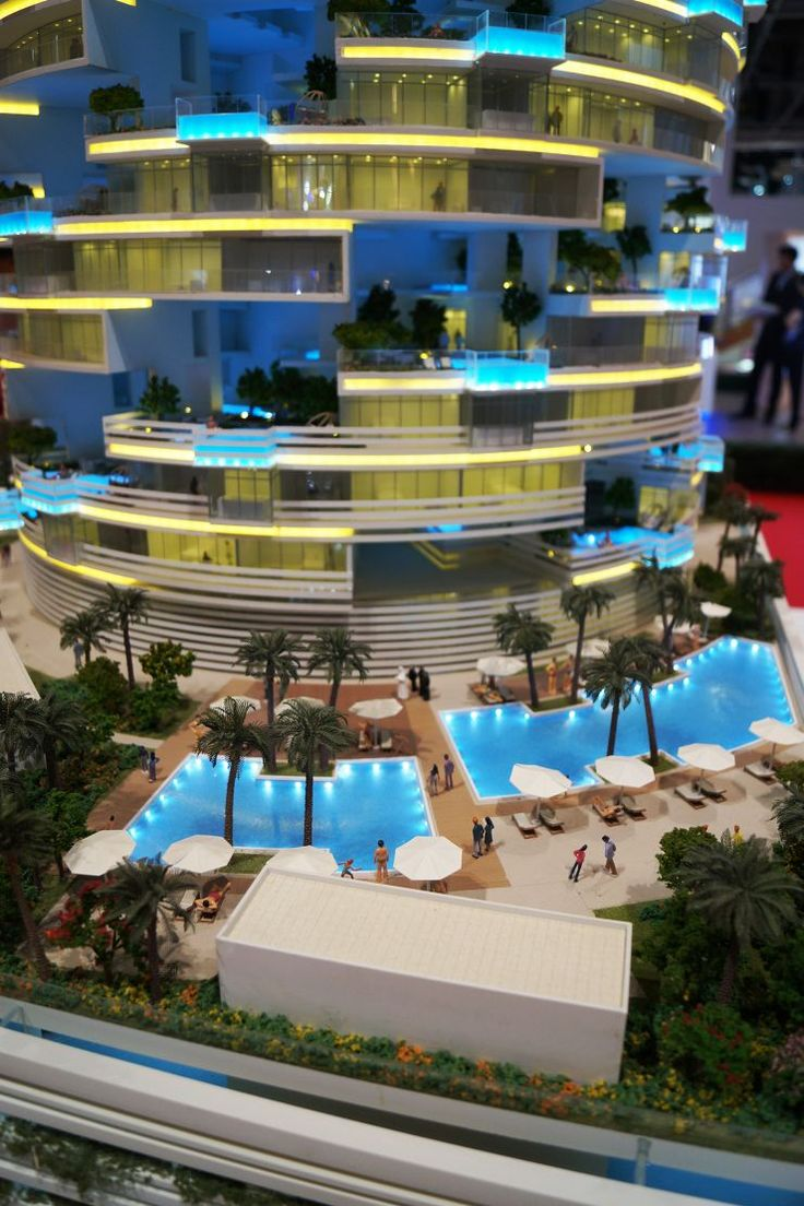 Suites in the SKAI, Dubai, developer's 3D model