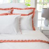 Image of Coral Duvet Cover | The Linden Coral Duvet: beautifully designed bedding at an affordable price point
