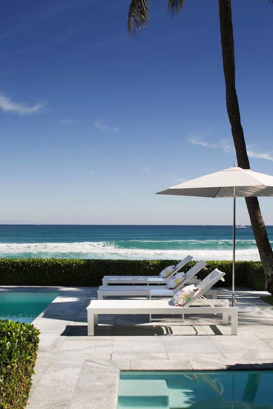 Palm Beach Chic - Design Chic- the perfect way to relax by the beach