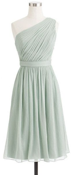 J.crew Kylie Dress in Crinkle Chiffon in Green (dusty shale) - Lyst for bridesmaids