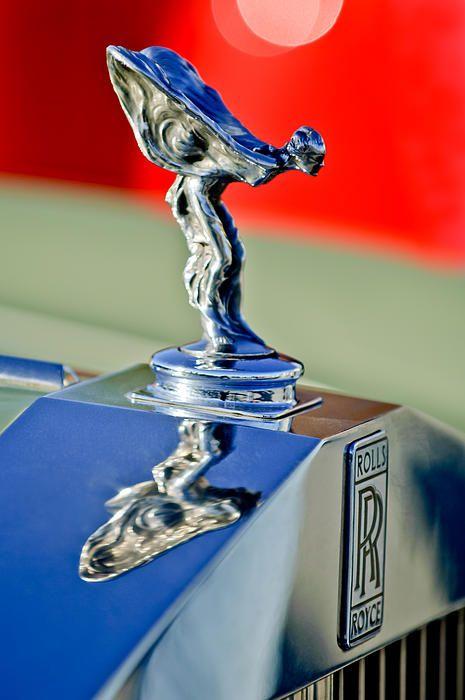 Rolls-Royce Images by Jill Reger - Images of Rolls-Royces - 1976 Rolls Royce Silver Shadow Hood Ornament