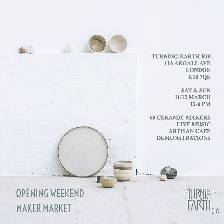 Come and say hi and see my new ceramics at the @turningearth sale starts midday today until tomorrow!  @turningearth 2 day ceramics market  11-12 March  Turning Earth E10  11 Argall Avenue  E10 7QE  http://ift.tt/2lBjzkw  #tamaragomezjewellery #pottery #ceramics #turningearth #cockpitarts #clay #spiritinspired #hoxton #eastlondon #design #madeinlondon #hackney #craftanddesign #londonmakers #craft #design #clay #pottersofinstagram #studioceramics #handmade #crossdiscipline