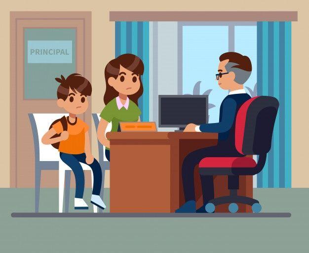 Director De La Escuela Padres Ninos Mae Premium Vector Freepik Vector Escuela Ninos Educacion In 2020 Kids And Parenting School Leader Childrens Education