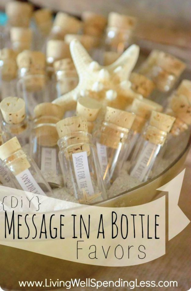 Message In A Bottle Party Favor Diy Wedding Favor Ideas To Save