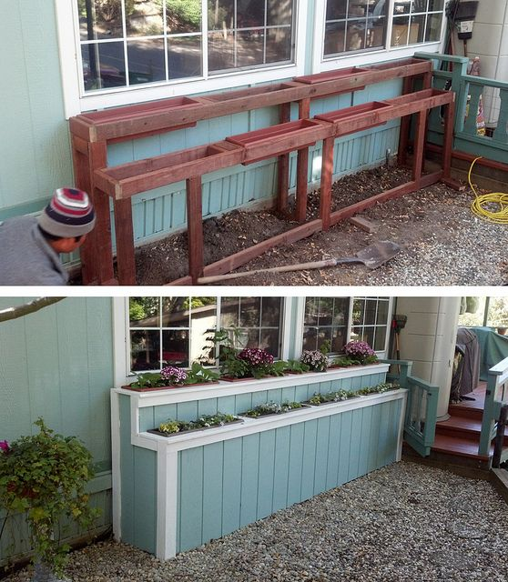 two tier window planter box | Planter Boxes | Flickr - Photo Sharing!