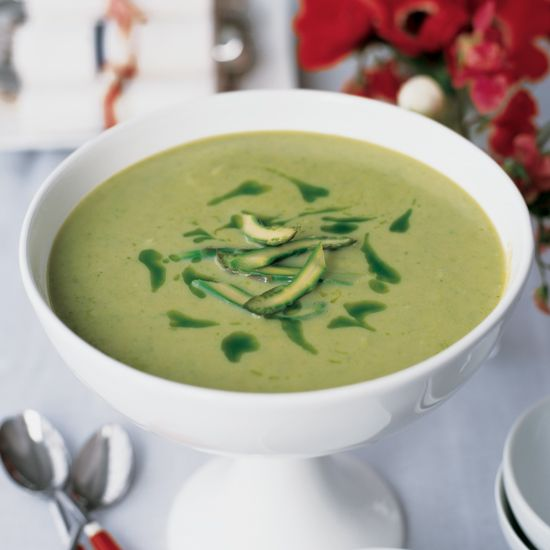Asparagus Vichyssoise | This creamy soup is best the next day, after the flavors have blended; season it generously before serving.