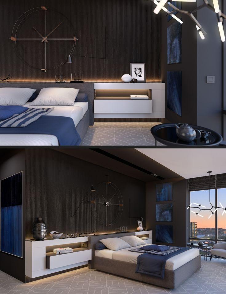 Спальня в темных тонах - Галерея 3ddd.ru