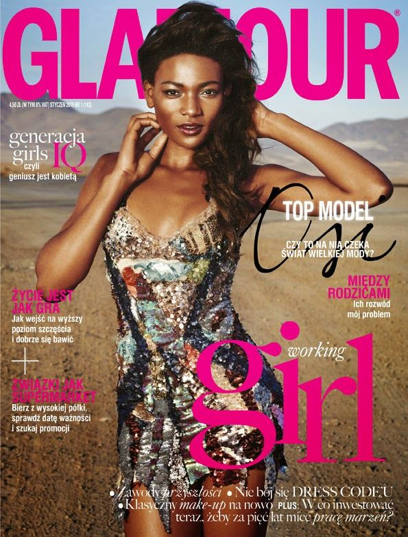 Osi Ugonoh - Glamour Poland, January 2015