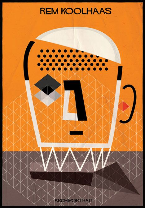 Rem Koolhaas Archiportrait by Federico Babina #RemKoolhaas #Federico Babina