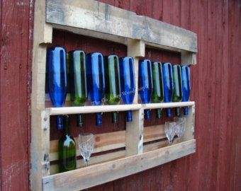 """Recycled wine rack"" // #Design #Pallets  #wood #madera #Recycled #Cava #Vino #Wine"