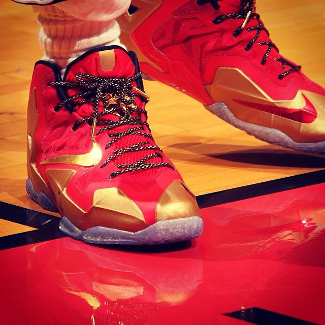 Iron Man Sneakers :-) #nike #shoes #red #gold #ironman