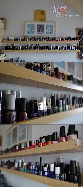 IKEA Shelves for my nail polish collection ;)