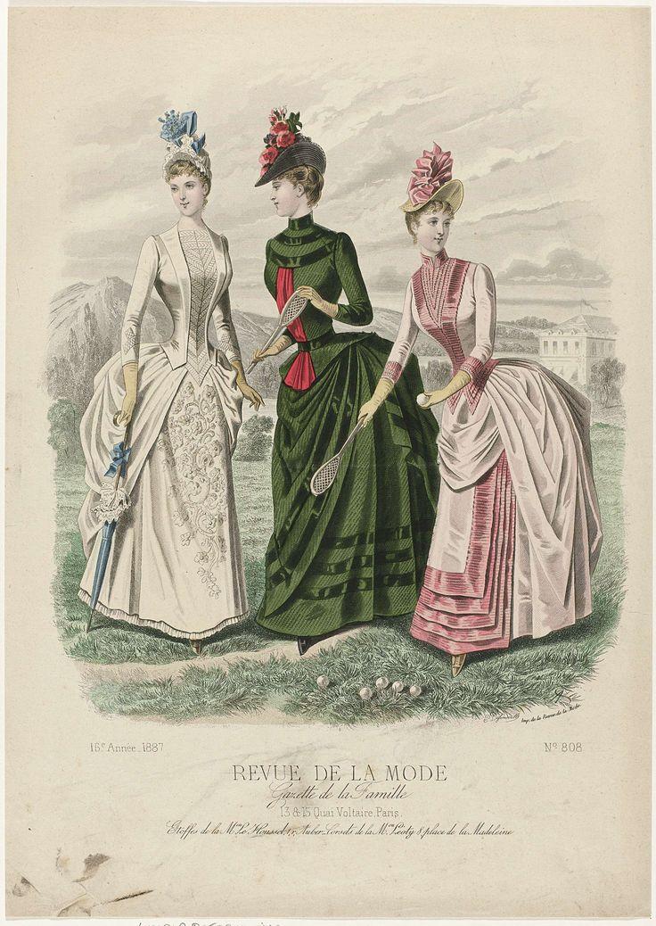 Revue de la Mode, Gazette de la Famille, dimanche 26 juin 1887, 16e Année, No. 808: Etoffes de la M.on Le Houssel (...), P. Deferneville, 1887
