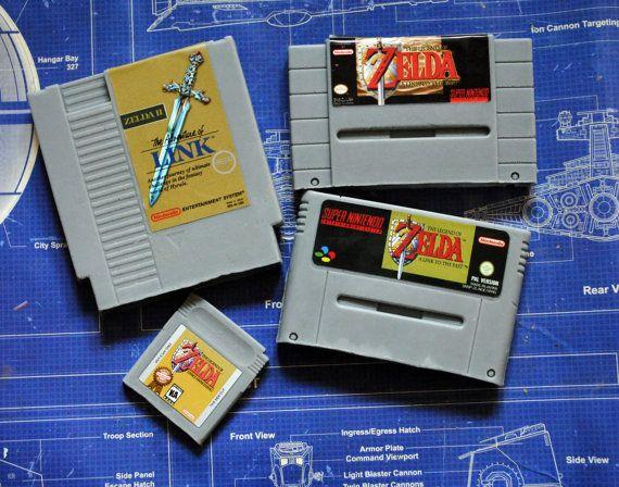 Ultimate Zelda Soap Pack  NES Cart Soap SNES pal & by NerdySoap