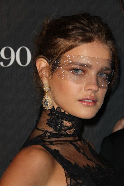 Natalia Vodianova Dangle Decorative Earrings - Natalia Vodianova Looks - StyleBistro