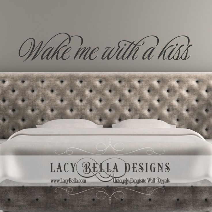 Best Master Bedroom Images On Pinterest Vinyl Lettering