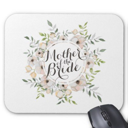 Mother of the Bride Watercolor | Mousepad - floral bridal shower gifts wedding bride party