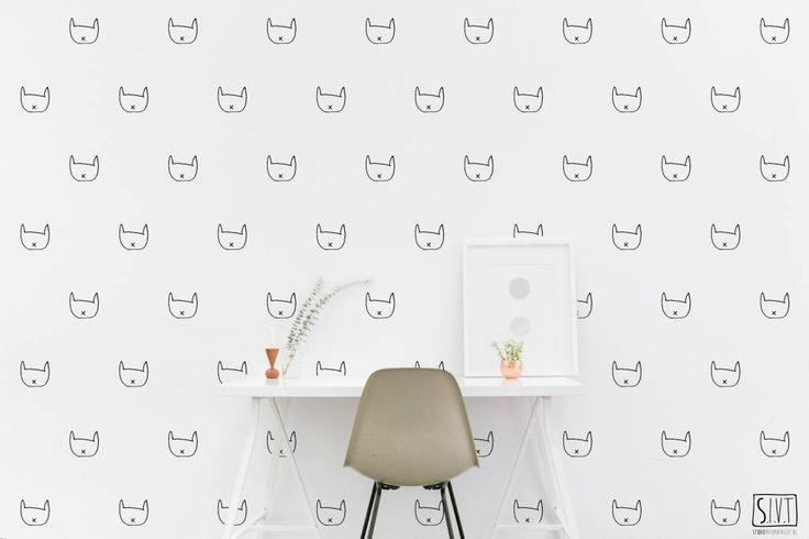 Studio Iris van Tricht behang katjes
