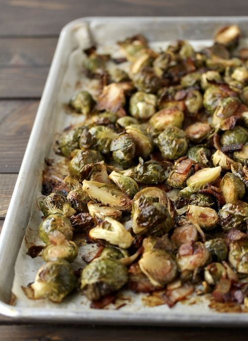 Roasted Brussels & Bacon