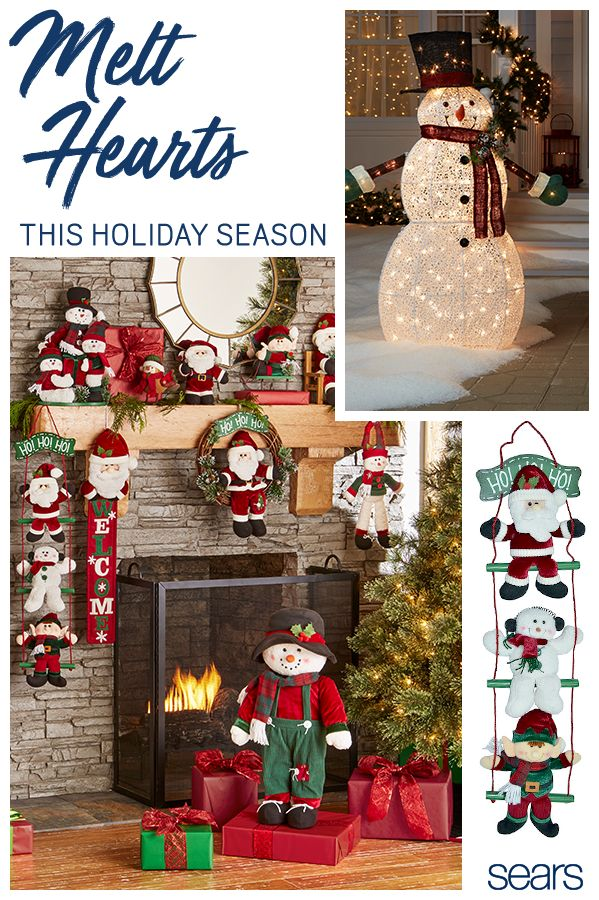 "Discover everything you need to decorate your home, inside and out. Find holiday décor in all shapes and sizes from a 48"" light up snowman for your lawn to an adorable 25"" greeter with rosy cheeks and green velvet overalls. Whatever your theme, whatever your decorating style, you'll find everything you need at sears.com."