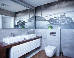 Bliźniak w Gruszczynie - Średnia łazienka, styl nowoczesny - zdjęcie od Norbert Perliński