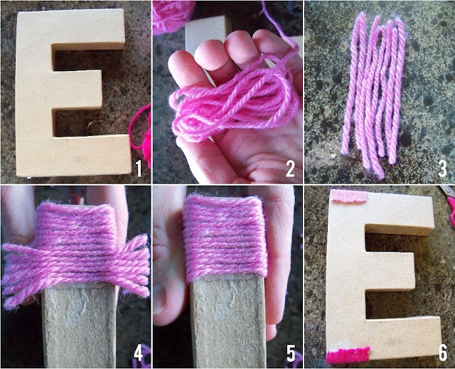 Yarn - wrapping the letter E