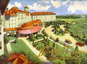 Hampton Terrace Hotel North Augusta Sc What It Used To Look Like Before Burned Down Footprints Of My Life Pinterest